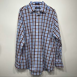 Chaps Classic Fit Plaid Long Sleeve Button Down